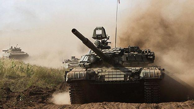 Russian tank (file pic)