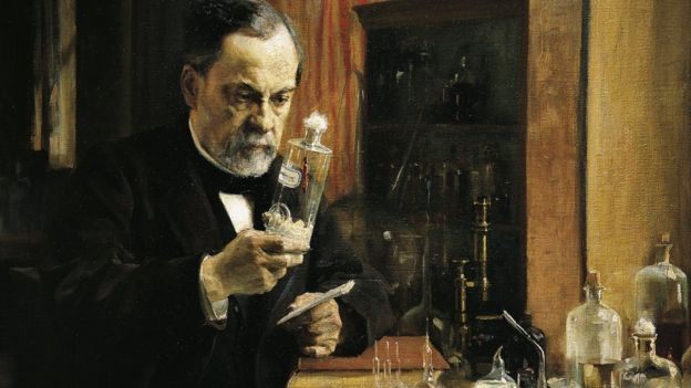 Луи Пастер в лаборатории