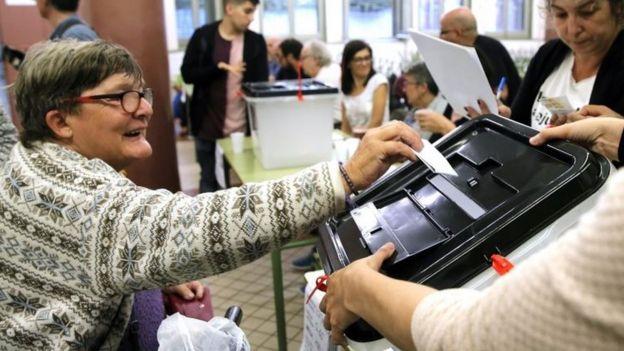 Una votante
