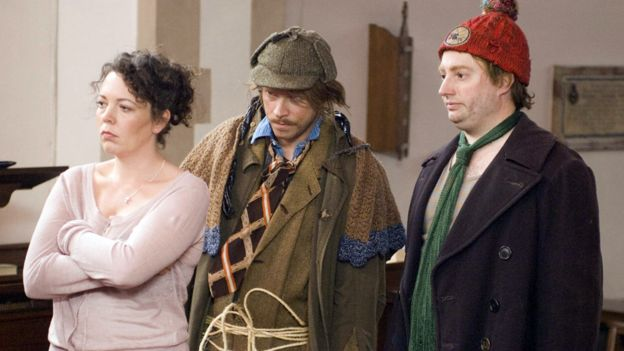 Olivia Colman, Robert Webb and David Mitchell in That Mitchell and Webb Look (2006)