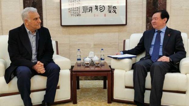 چانگ هوا سفیر چین در دیدار با آقای عرب نژاد مدیر عامل هواپیمایی ماهان