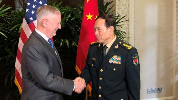 马蒂斯和魏凤和10月曾在东盟的扩大防长会议期间会面。