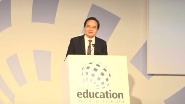 Bộ trưởng Giáo dục Phùng Xuân Nhạ phát biểu tại Diễn đàn Giáo dục Thế giới 2019