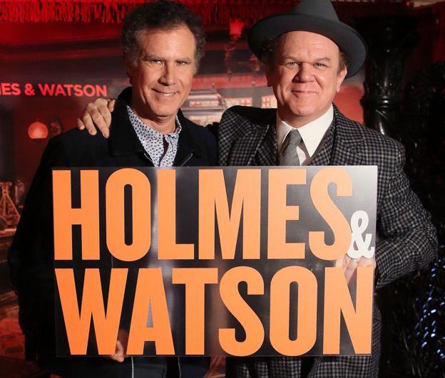 "плакат нового фильма ""Холмс и Ватсон"""