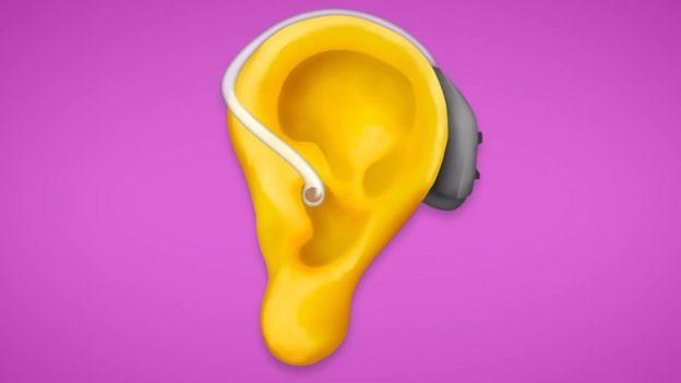 El audífono es otra de las novedades....Foto: EMOJIPEDIA