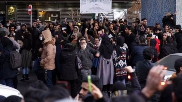 Tahran'daki protesto gösterisi