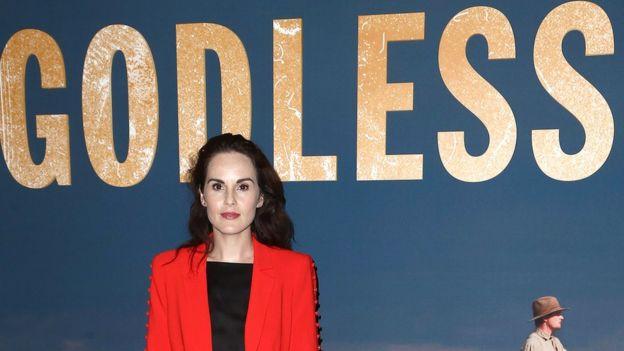 """Michelle Dockery, actriz de la serie """"Godless"""""""