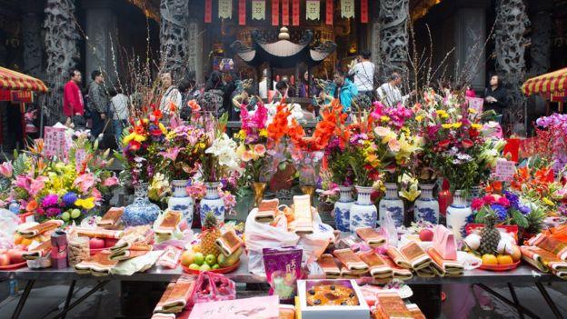中元節祭祀是台灣民俗盛事,因為祭品,也帶來商機。