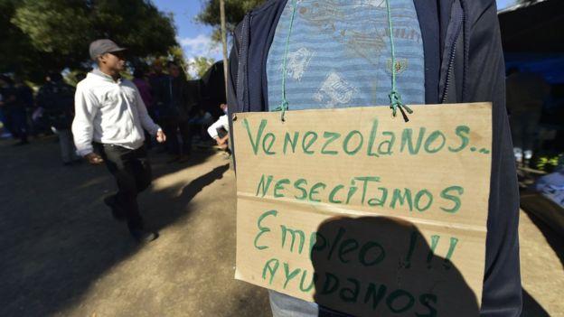 Venezolano pide trabajo
