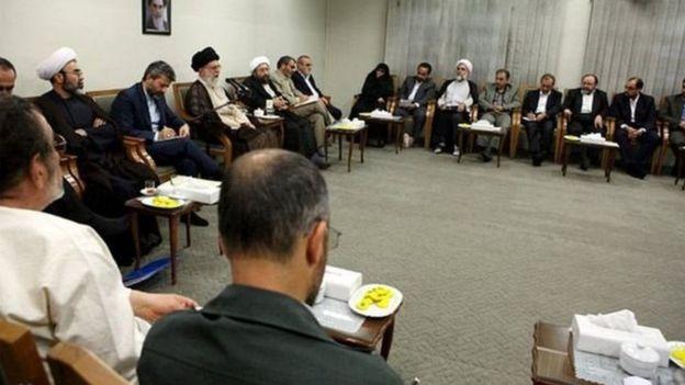 جلسه آیت الله خامنه ای و نمایندگان کاندیداها