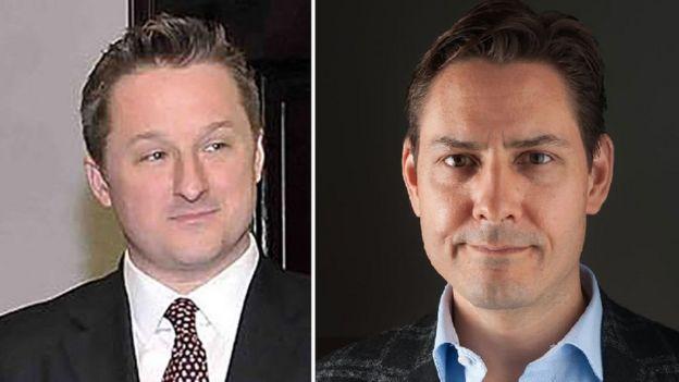 Hai công dân Canada Michael Spavor (trái) and Michael Kovrig đang bị giam giữ tại Trung Quốc