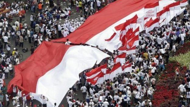 indonesia. bendera, merah putih