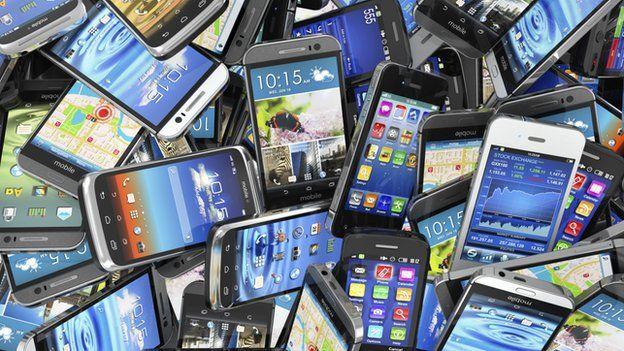 Mobile phone mountain