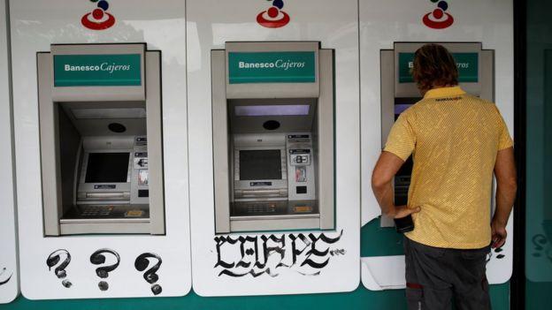 Cajero automático de Banesco.