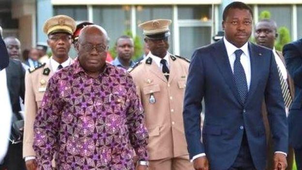 Le facilitateur Nana Akufo-Addo= et le président Faure Gnassingbé