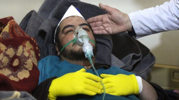 Syria, conflict:, 'Chemical, attack', in, Idlib, kills, 58