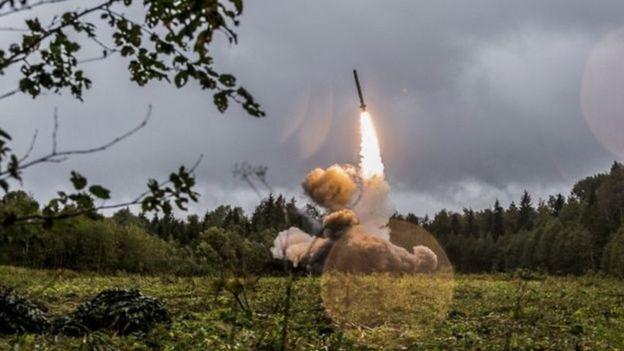 2017 में एक अभ्यास के दौरान रूसी इस्कंदर-एम मिसाइल