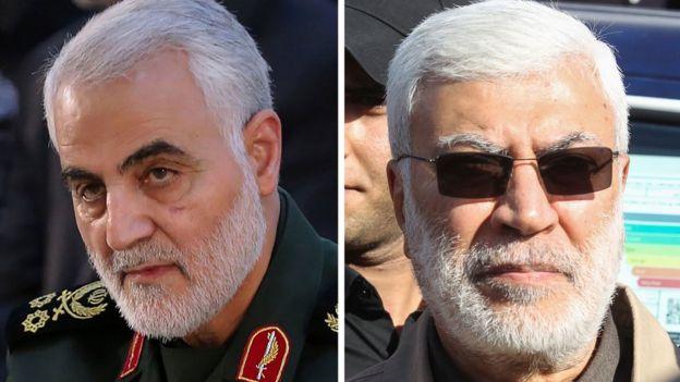 Сулеймани (слева) и Абу Махди Мухандис