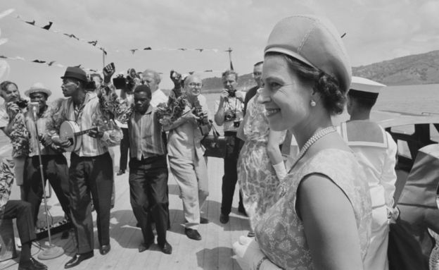 The Queen in the Caribbean in 1966