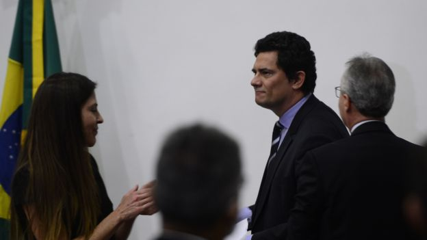 Sergio Moro em coletiva na qual se demitiu