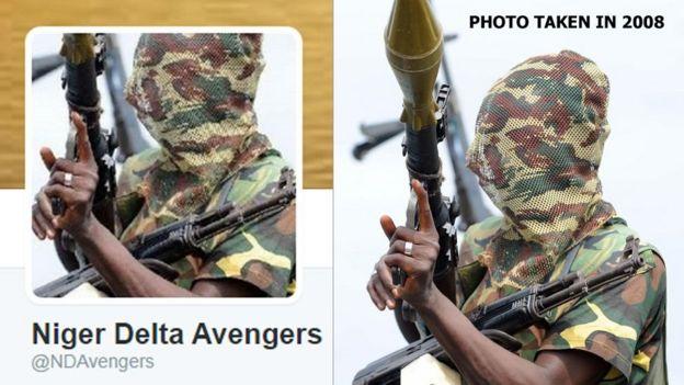 Waasi wa Niger Delta Avengers ambao wameshambulia