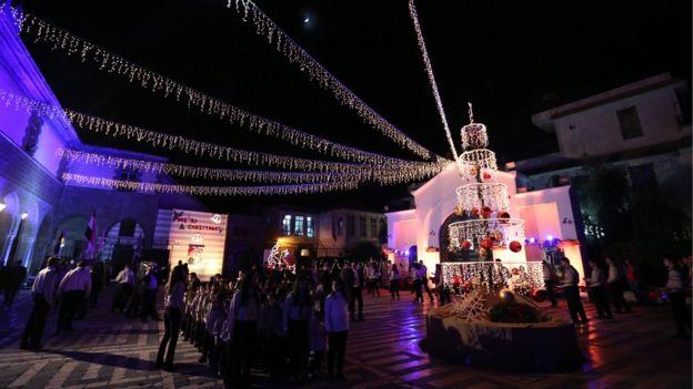 Праздничная месса в Дамаске
