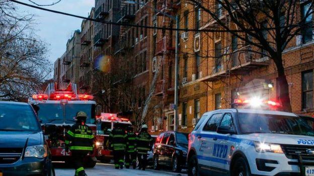 Edificio incendiado en el Bronx