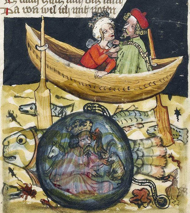 Iluminura em livro de 1400-1410