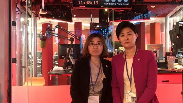 탈북자 김정아 씨와 지현아 씨는 탈북 후 자신들이 겪은 인권유린에 대해 털어놨다