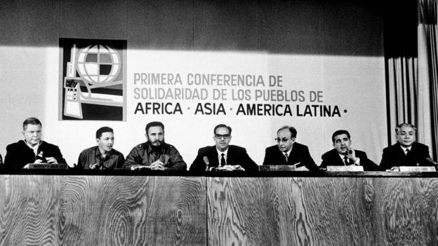 Reunión de la Tricontinental en enero de 1966