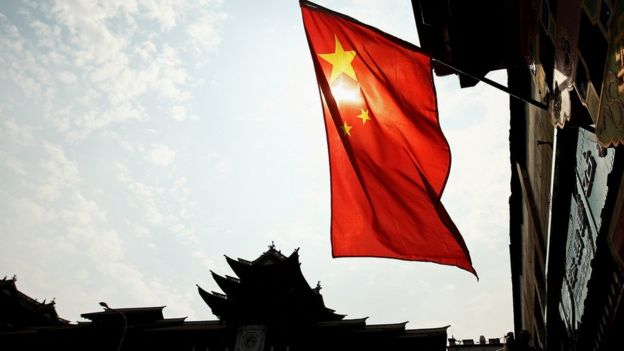 Chinese flag in Beijing