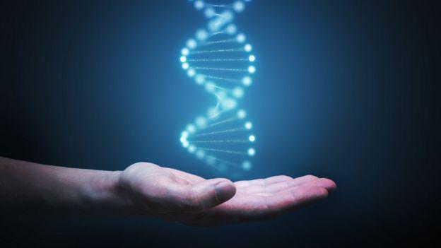 mano y ADN