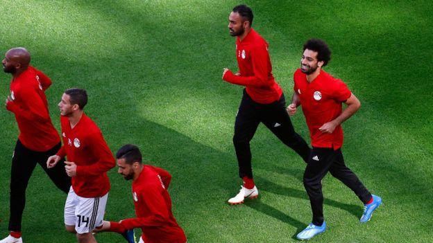 صلاح يشارك في تدريبات المنتخب المصري