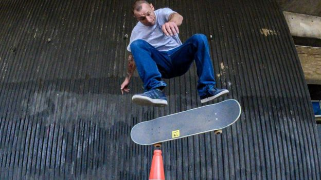 some skateboarders
