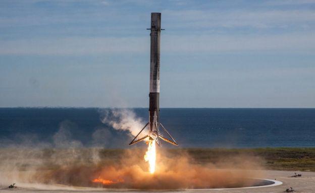 Landing booster
