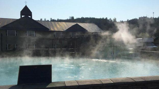 Desde 1982, estas aguas termales han sido utilizadas para dar calefacción a viviendas de Pagosa Springs.
