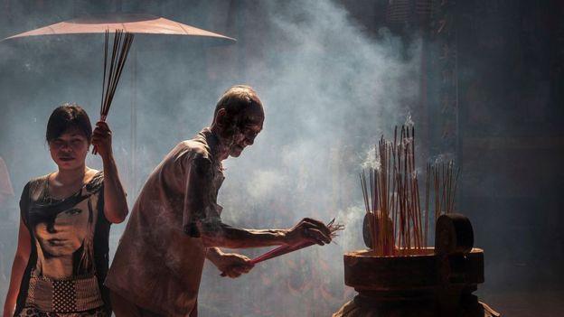 Một ngôi chùa của người Hoa trong Chợ Lớn