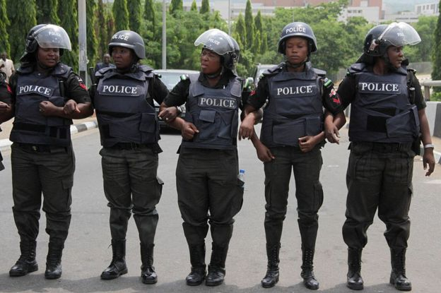 Nigerian policewomen