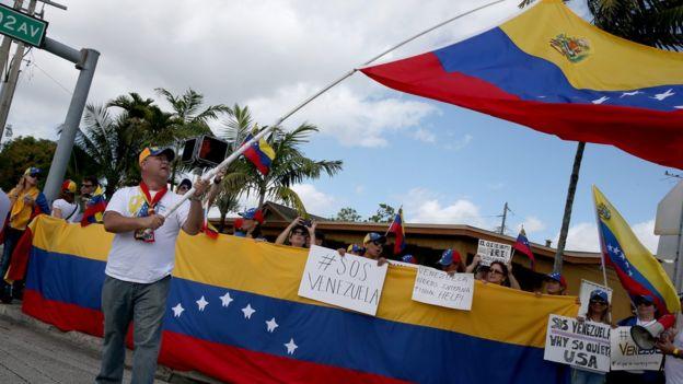 La ciudad de Miami ha sido escenario de protestas contra el gobierno de Maduro