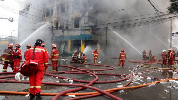 Incendio en galería Nicolini