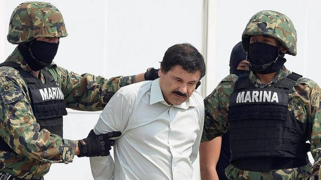 """Joaquín Guzmán Loera, """"El Chapo"""", fue capturado en México y enjuiciado en Estados Unidos."""