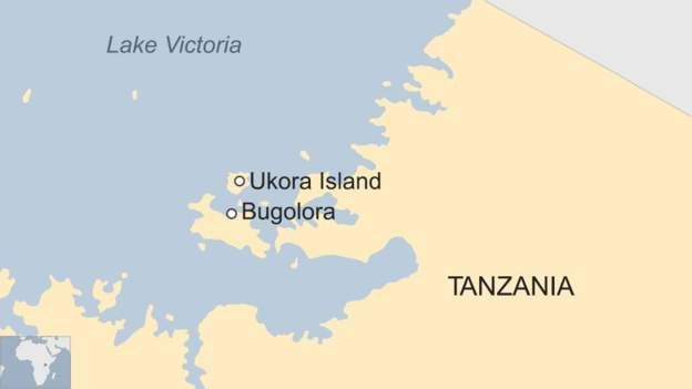 Lake victoria tanzania dozens drown in ferry capsize bbc news a map showing lake victoria in tanzania gumiabroncs Choice Image
