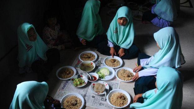 O compartilhamento de comida