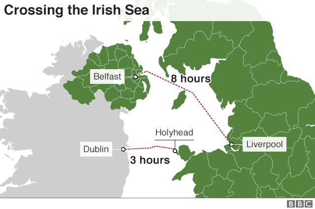 Map Of England Holyhead.Reality Check Holyhead S Brexit Dilemma Bbc News