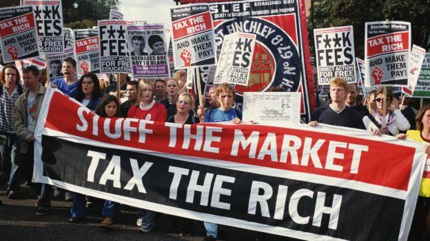 Phái tả Anh Quốc lên án thị trường và muốn đánh thuế người giàu