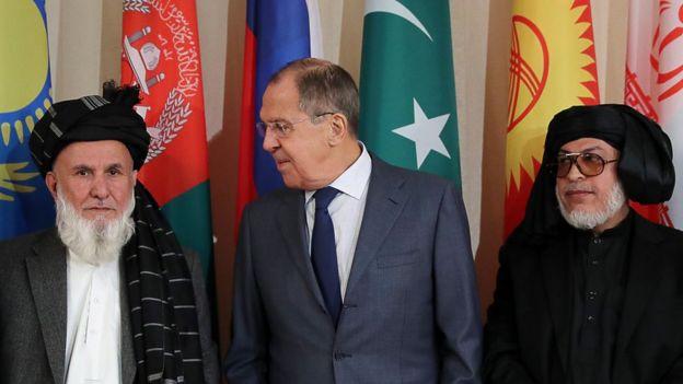 রুশ পররাষ্ট্রমন্ত্রী সের্গেই লাভরভের সাথে আফগান প্রতিনিধিরা
