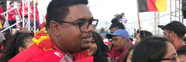Irfaan Ali, presidential candidate for the People's Progressive Party, on 18 January