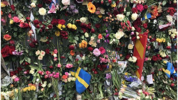 Memorial a vítimas de ataque em Estocolmo