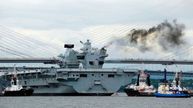 HMS Queen Elizabeth is one of two carriers being built at a combined cost of £6.2 billion