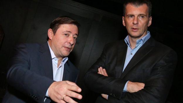 Александр Хлопонин и Михаил Прохоров